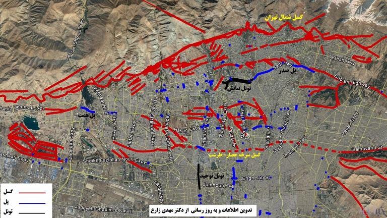 پیش بینی زمان و قدرت زلزله پایتخت به روایت گسل های تهران