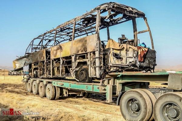 اعلام اسامی جانباختگان و تشریح علت سانحه آخرین جزئیات حادثه تلخ تصادف اتوبوس در سنندج