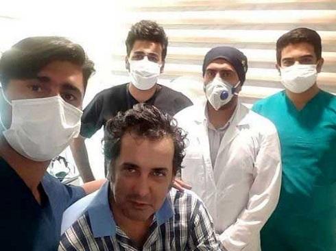 حسام نواب صفوی در بیمارستان